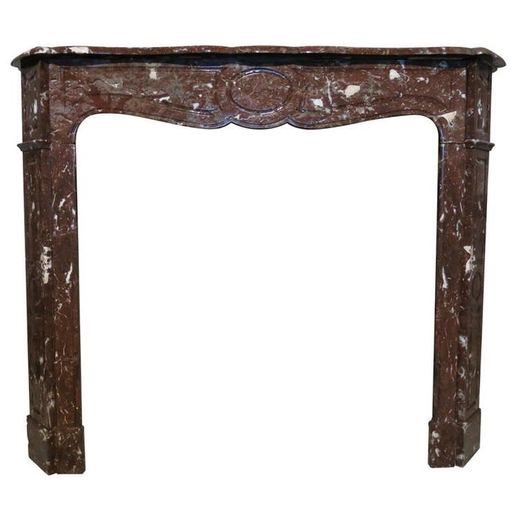 French Louis XV Style Marble Fireplace From Paris, 19th Century, France