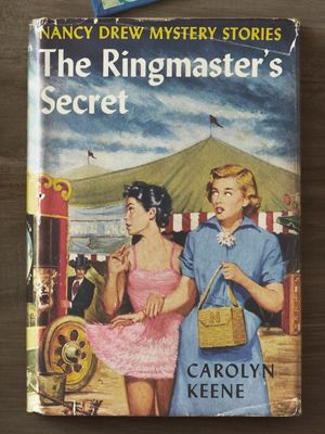 "1950s  Nancy's age jumped from 16 to 18 in 1950, and she morphed from a feisty gumshoe into a demure debutante who deferred to police and drove only ""as fast as the law allowed.""    Read more: Nancy Drew Books Value - Vintage Nancy Drew Books - Country Living"