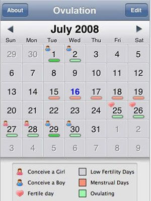 The Best iPhone Apps for Moms-to-Be: Ovulation Calendar (via Parents.com)