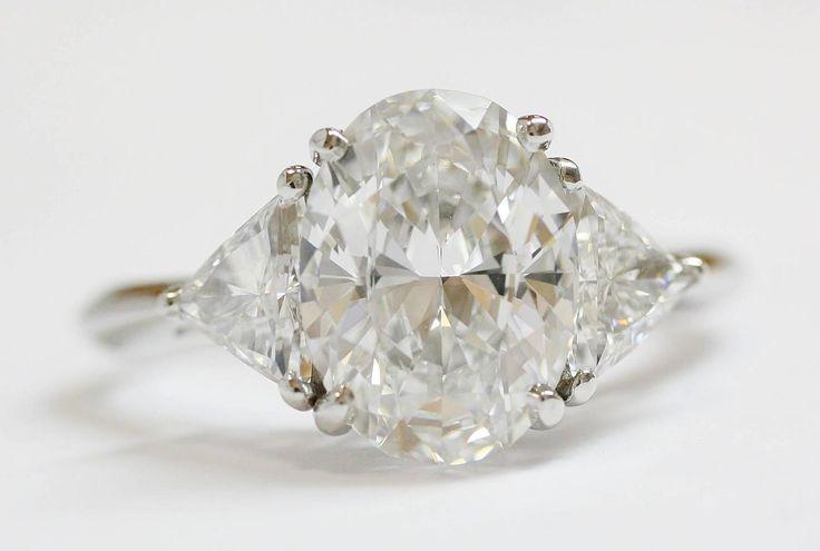 Tiffany & Co 3 06 carat Oval Diamond platinum Engagement Ring