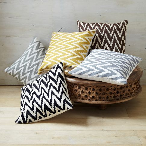 West Elm - Chevron Crewel Cushion