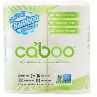 Caboo Bamboo & Sugarcane 3ply Toilet Roll - Pack of 4 | Natural Collection £2.49