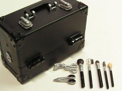 Re-ment dollhouse miniature black vanity case / beauty case