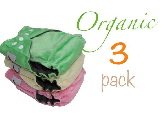 Organic Bamboo Diapers One Size fits all with Organic Hemp Inserts