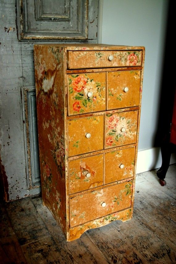Antique Shabby Sewing Room Drawer