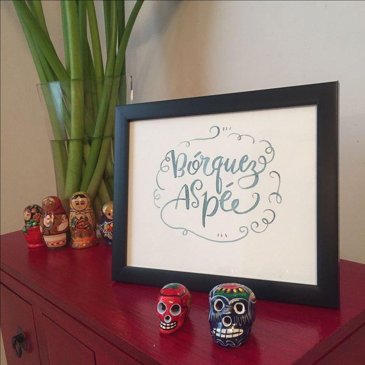 Decora tus espacios. Lámina decorativa, con acuarela y grafito. Tamaño 24 x 30 cm. Papel fabriano libre de ácido. #acuarela #watercolor #ilustracion #dibujo #lettering #letras #caligrafia