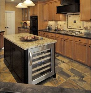 Small Kitchen Island With Wine Cooler But I Want A Butcher Block Top