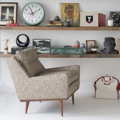 Jack Chair in Nubby Tweed | midcentury inspired, made in the USA | a Schoolhouse Electric Exclusive