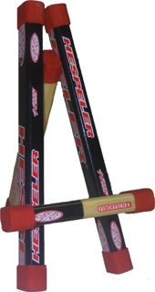 use old hockey sticks for decor. Make an easel to post up info