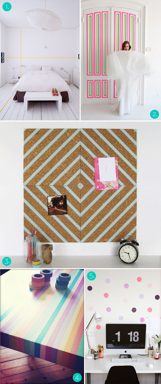 Roundup: 5 Ways to Decorate with Washi Tape! » Curbly | DIY Design Community