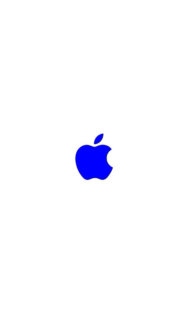 White Blue Apple IPhone Wallpaper