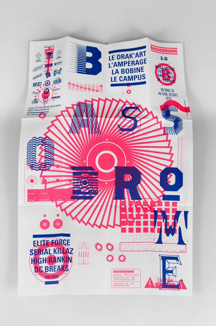 Bassodrome 2.0 - SUPERSUPER. - Design graphique, Grenoble, France:
