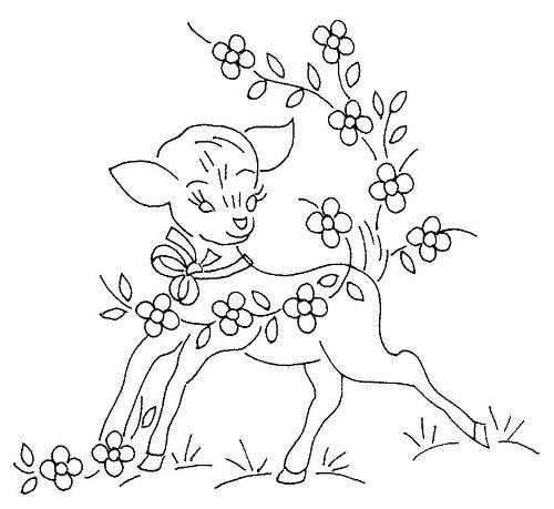 deer embroidery pattern