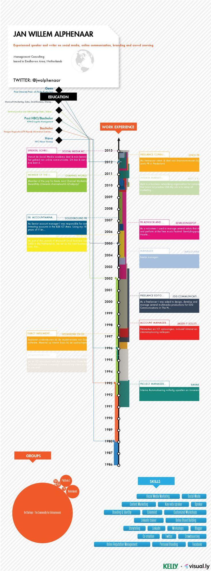 17 best images about cv s infographic resume linkedin cv grafisch aantrekkelijk maken met een infographic