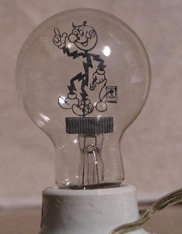 Beautiful Reddy Kilowatt Unique Light Bulb/Night Light