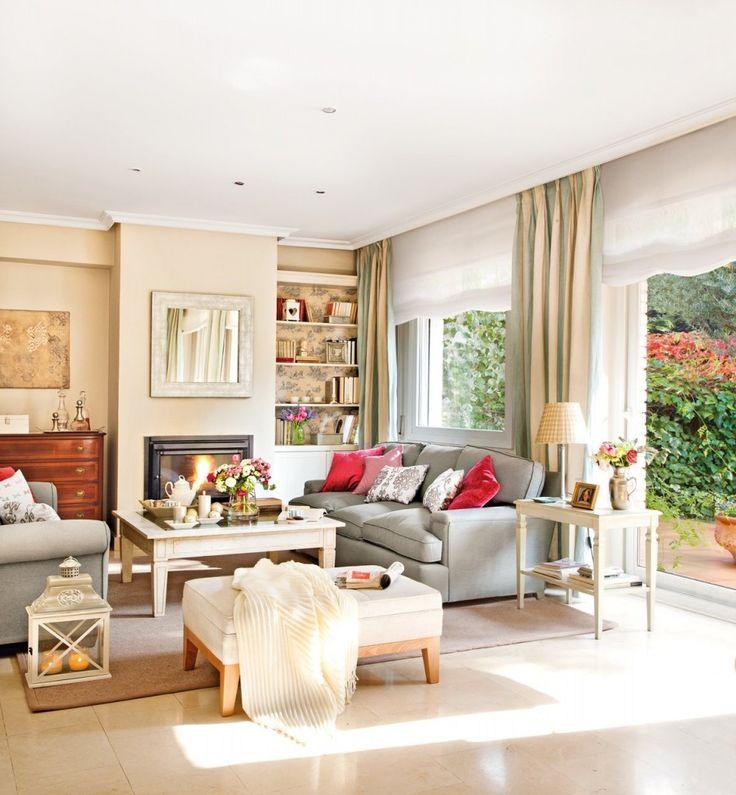 489 best Salones images on Pinterest   Living room ideas, Living ...