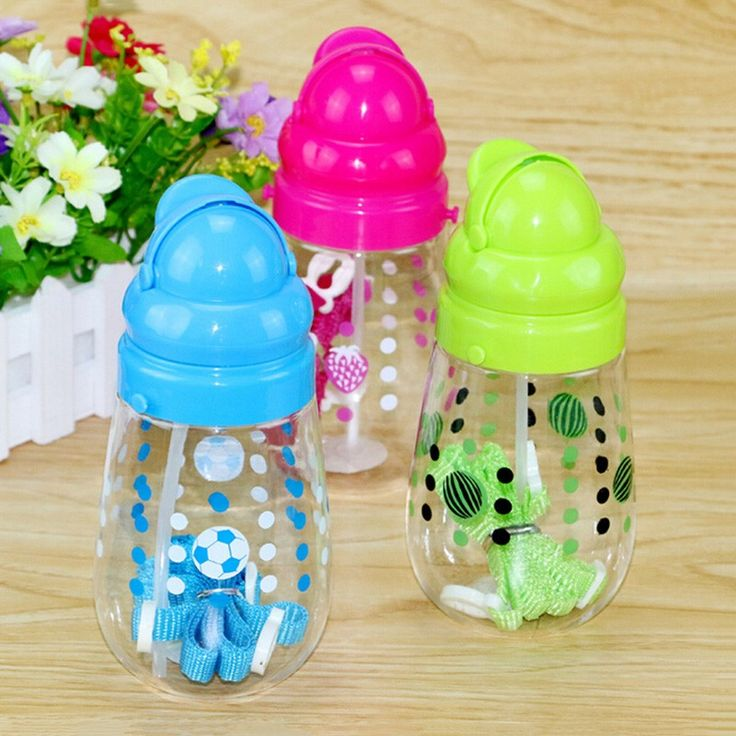 New Arrival Cute Cartoon Water Bottle Plastic Straw Cups 200ML Student Travel Mug Outdoor Bike Water Bottles Kids Cup