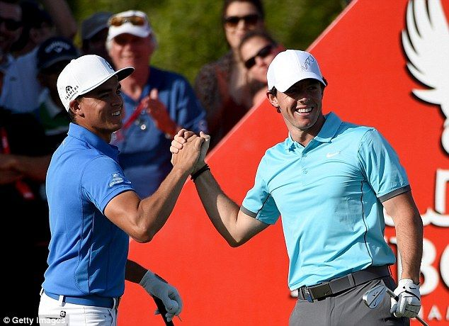 Friends Rory McIlroy (right) and Rickie Fowler (left) are living  different lives in the build up to the 2016 Masters