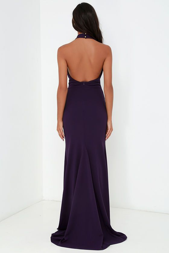 Time Out of Mind Purple Halter Maxi Dress at Lulus.com!