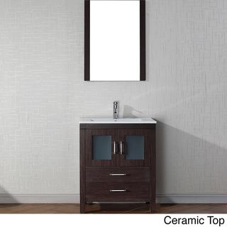 Virtu USA Dior 28 Inch Single Sink Vanity Set In Espresso   $770