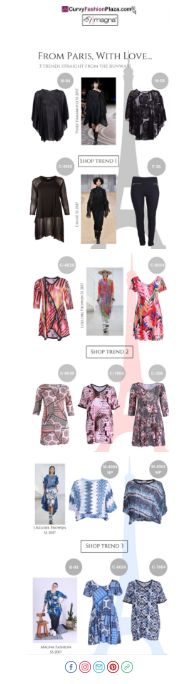 From Paris With Love Newsletter by Magna Fashion #newsletter #curvy #ffashion
