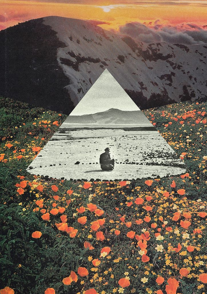 Harmony with flowers | by Mariano Peccinetti Collage Art