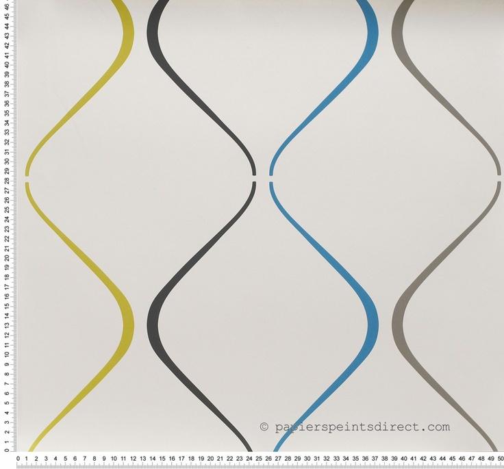 Tempo turquoise - papier peint AS Création, top pour une décoration design et colorée