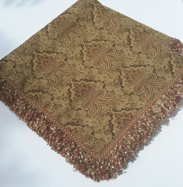 Chenille Table Topper, Elegant Table Topper, Gold Table Topper, Chenille Table Cover, Table Topper-Size 40 in x 40 in by CVDesigns on Etsy