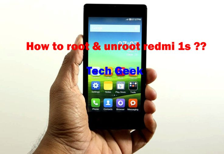 How to root redmi 1s
