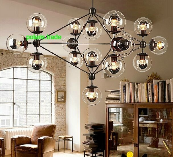 21 Light Modern MODO LED Glass Ball Chandelier Ceiling Light Lobby Pendant Lamp