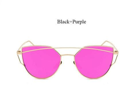 Mirrored Cat Eye Women's Fashion Sunglasses 2017 trend eyewear glasses fashion styles style cute cheap summer 2017 outfit cool trendy products shops websites buy online eyecat girl store shop for sale  gold purple