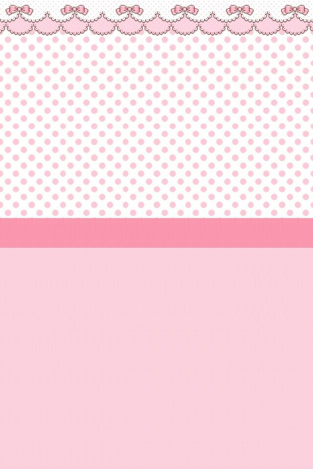 Pink bow wallpaper  on We Heart It