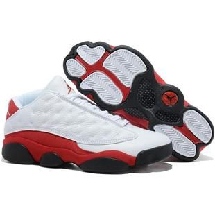 Find Nike Air Jordan 13 Mens Low White Red Black Shoes New online or in  Footlocker. Shop Top Brands and the latest styles Nike Air Jordan 13 Mens  Low White ...