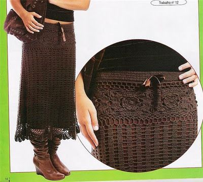Crochet golden lace skirt!  Plenty of graphs.  I will sit and figure out how to make this once I reach my goal weight! -Jessica