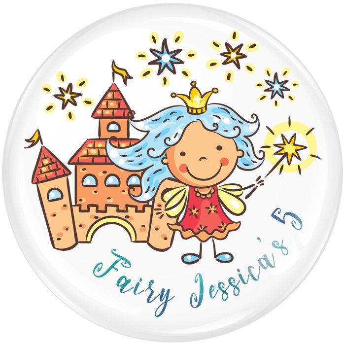 Fairy Personalised Birthday Party Badge #479