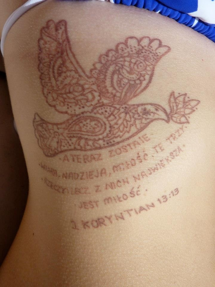 Brown colored tattoos images for Yellow tattoo on dark skin