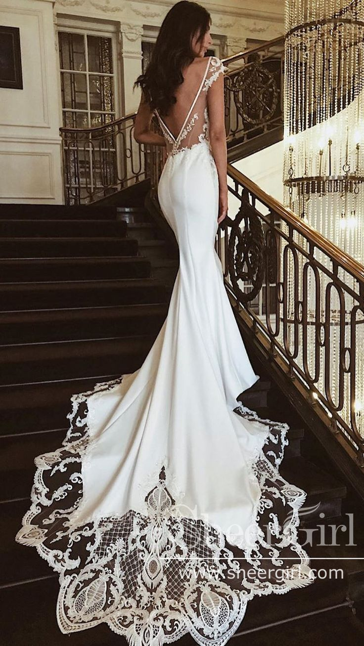 Pin by Sara Ricci on W E D D I N G   Wedding gown backless