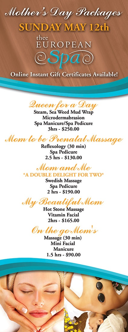 Mother's Day Spa Packages *Sunday May 12th