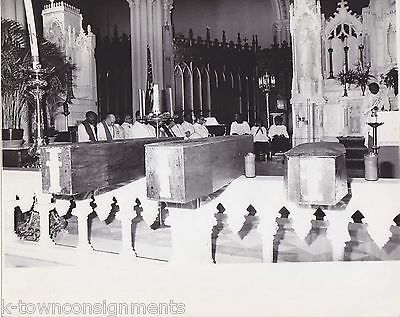 COFFINS OF HAITIAN STUDENTS KILLED BY HAITI GOVERNMENT VINTAGE CHURCH PHOTO 1985