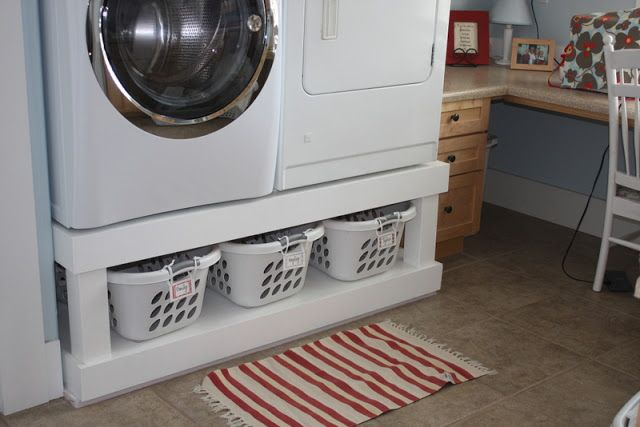 No Empty Chairs: Washing Machine Stand Idea