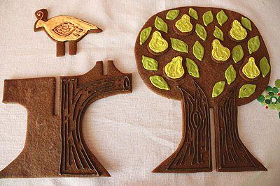 Partridge In A Pear Tree In Gingerbread