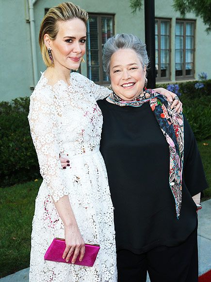 Star Tracks: Monday, June 15, 2015 | ALL-AMERICAN | Also at the screening, American Horror Story co-stars Sarah Paulson and Kathy Bates buddy up.