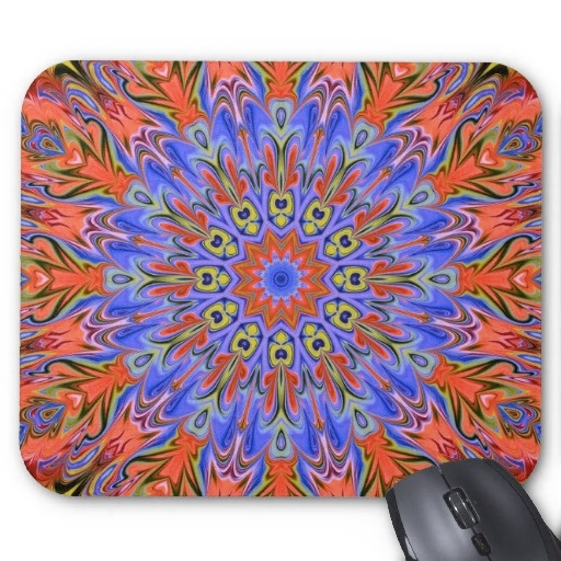 hot summer kaleidoscope mousepad