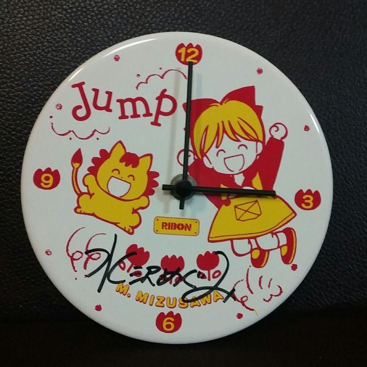 りぼん付録・懸賞品 姫ちゃんのリボン 水沢めぐみ サイン入り 掛け時計_画像1