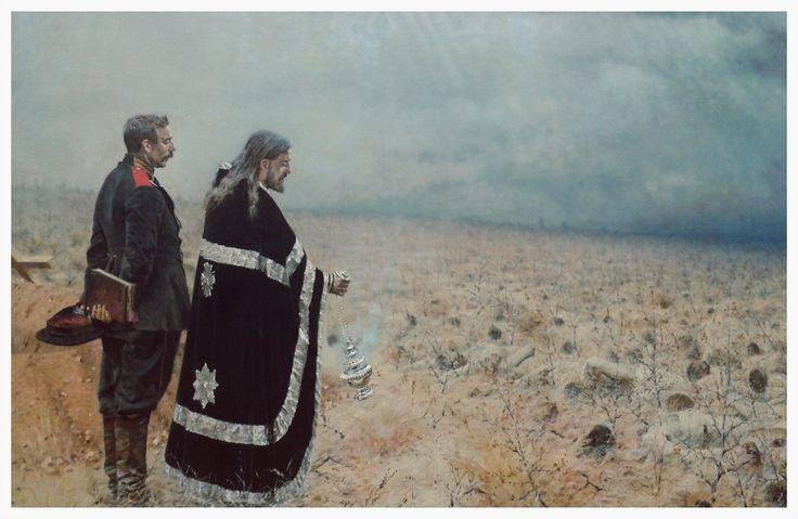 Vasily Vasilyevich Vereshchagin (Васи́лий Васи́льевич Вереща́гин, October 26, 1842 – April 13, 1904) The Vanquished. Requiem for the Dead, 1878-79 Tretyakov Gallery, Moscow