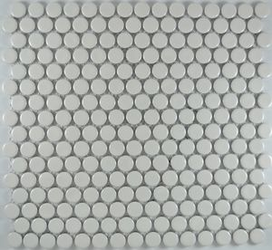Product ID:MCP101 3/4X3/4 Penny Round White Glossy #Profiletile