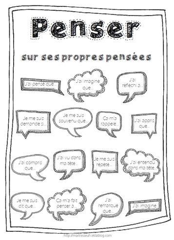 Télécharger « metacognition penser sur ses propres pensées.pdf » Une petite affiche pour se souvenir de l'importance de discuter avec les enfants de ce qui se passe dans leur tête quand ils apprennent