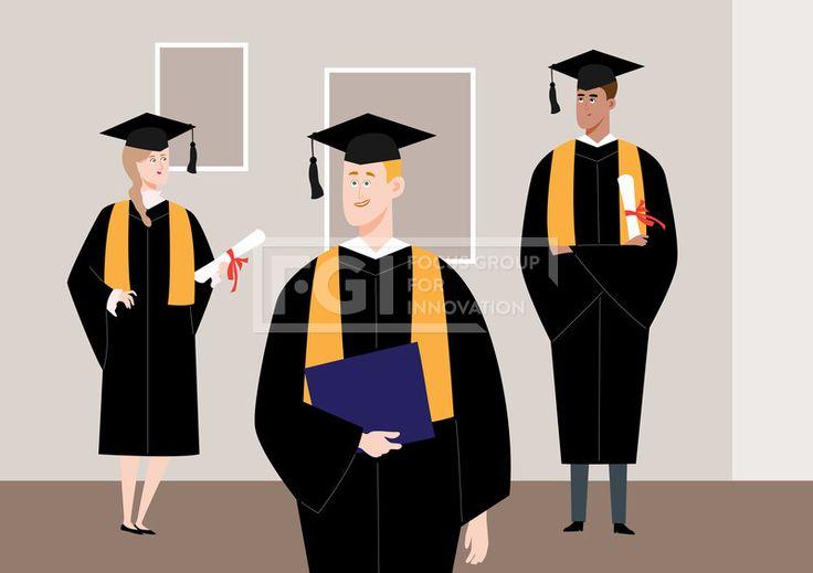 SILL220, 프리진, 일러스트, 생활, 교육, 사람, 사람들, 라이프, 스타일, 벡터, 에프지아이, 심플, 남자, 여자, 캐릭터, 실내, 인테리어, 웃음, 미소, 공부, 학습, 대학생, 학생, 졸업, 입학, 학사모, 가운, 3인, 서있는, 전신, 일러스트, illust, illustration #유토이미지 #프리진 #utoimage #freegine 19978444