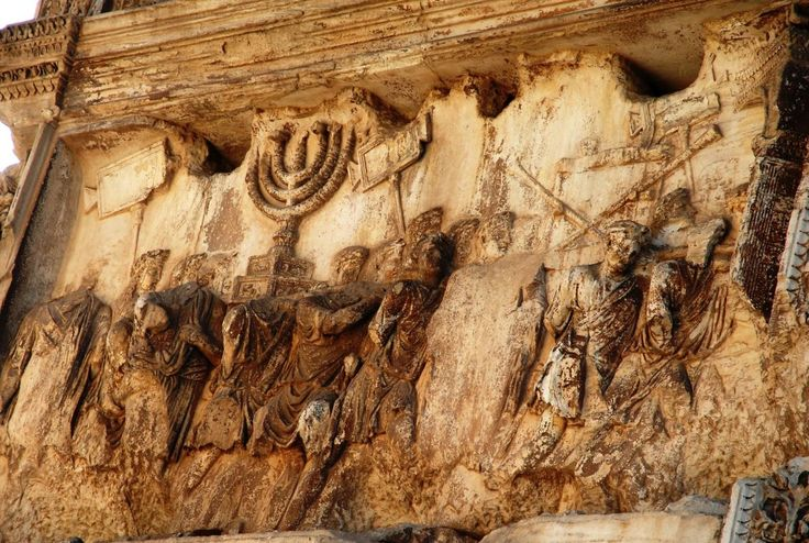 Menorah of the Second Temple. When rebellious Jews tried to liberate Israel from the Romans, General Tito went to fetch treasures from the country. One of these treasures was the Menorah, which nobody knows if it came to Rome.