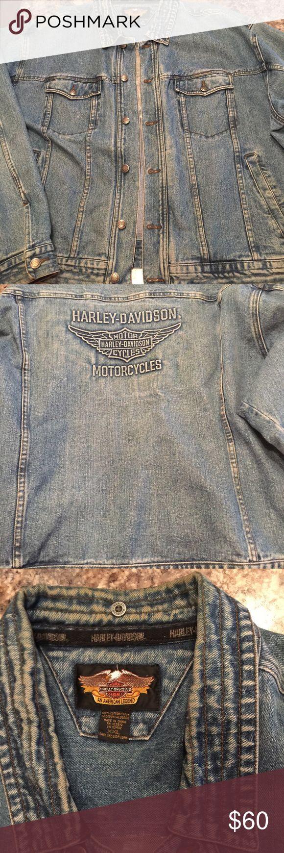 Harley Davidson Jean Jacket Harley Davidson men's jean jacket. Zip in lining not included. Good condition. Harley-Davidson Jackets & Coats